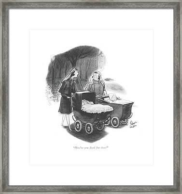 How're You ?xed For Tires? Framed Print by Richard Decker