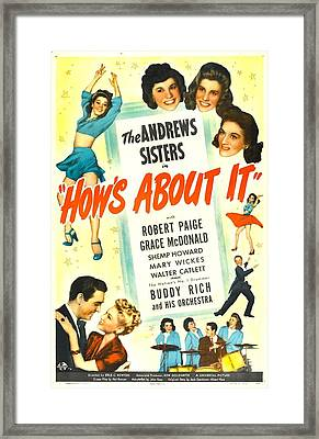 Hows About It, Us Poster, Top Right Framed Print by Everett