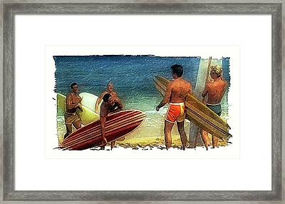 Hows The Surf Framed Print by Ron Regalado
