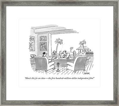 How's This For An Idea  -  The First Framed Print