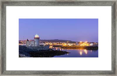 Howth Harbour Lighthouse Framed Print