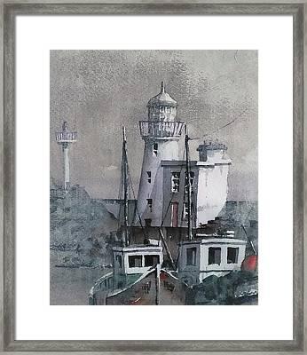 Howth Lighthouse Dublin Framed Print