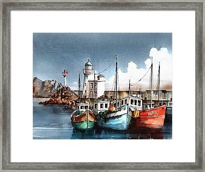 Howth Trawlers Framed Print