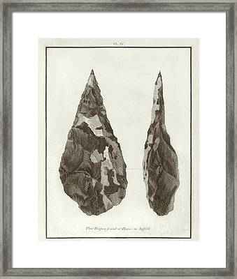 Hoxne Handaxe Framed Print by Middle Temple Library
