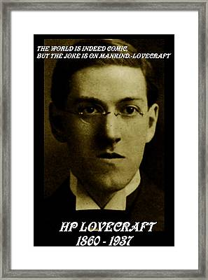 Hp Lovecraft Framed Print by Jack Joya