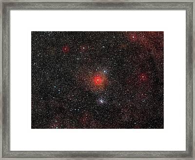 Hr 5171 Star Framed Print by Eso/digitized Sky Survey 2