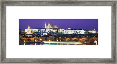 Hradcany Castle And Charles Bridge Framed Print by Panoramic Images