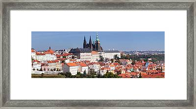 Hradcany Castle With St. Vitus Framed Print by Panoramic Images
