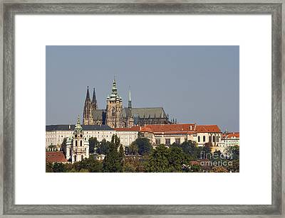 Hradcany - Cathedral Of St Vitus On The Prague Castle Framed Print by Michal Boubin