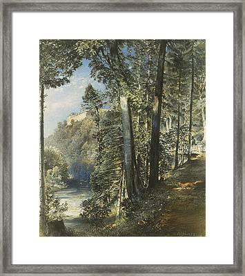 Hradec Castle Framed Print