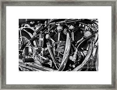 Hrd Vincent Motorcycle Engine Framed Print by Tim Gainey