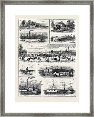 H.r.h. The Duke Of Edinburgh At Liverpool Framed Print by English School