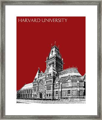 Harvard University - Memorial Hall - Dark Red Framed Print by DB Artist