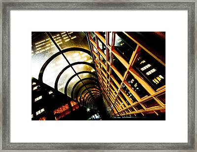 Hsbc Walkway Framed Print
