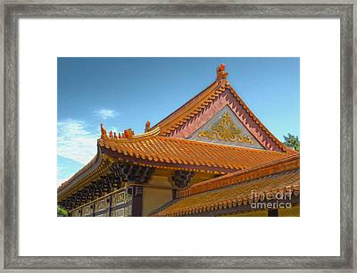Hsi Lai Temple - 01 Framed Print by Gregory Dyer