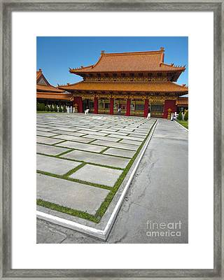 Hsi Lai Temple - 04 Framed Print by Gregory Dyer