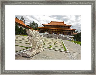 Hsi Lai Temple - 05 Framed Print by Gregory Dyer