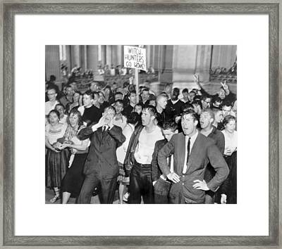 Huac Protests In San Francisco Framed Print