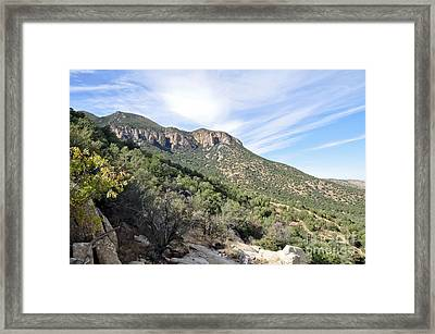 Framed Print featuring the photograph Huachuca Mountains by Gina Savage