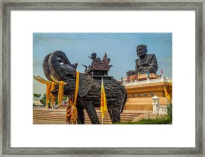 Huay Mongkol Temple  Framed Print