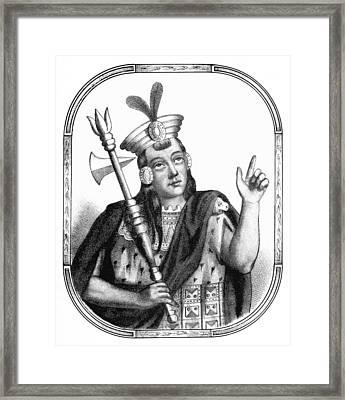 Huayna Capac, Sapa Inca, Incan Empire Framed Print