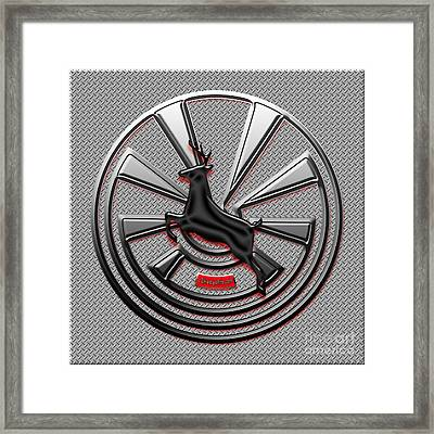 Hub Cap Framed Print by Methune Hively