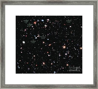 Hubble Extreme Deep Field Xdf Framed Print by Science Source