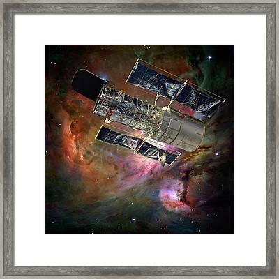 Hubble Space Telescope Framed Print by Nasa,esa, M. Robberto (space Telescope Science Institute/esa) And The Hubble Space Telescope Orion Treasury Project Team/detlev Van Ravenswaay