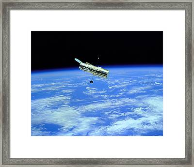 Hubble Space Telescope Framed Print by Ram Vasudev