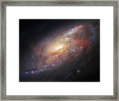 Hubble View Of M 106 Framed Print by Adam Romanowicz