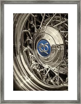 Hubcap Deluxe Framed Print by Caitlyn  Grasso