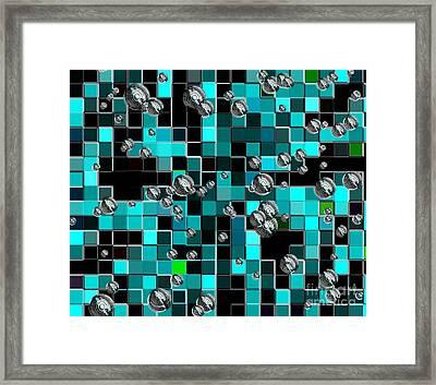 Hubcaps Framed Print by Marsha Heiken