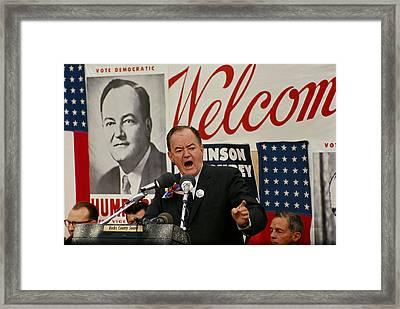 Hubert Humphrey Framed Print by Jack Rosen
