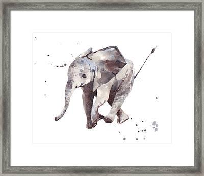 Hubert Hurry Elephant Framed Print