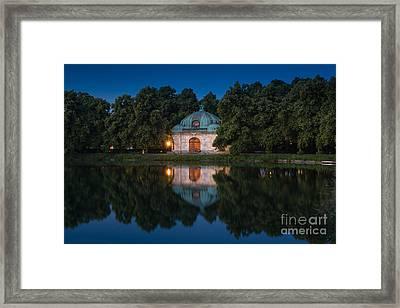 Hubertusbrunnen Framed Print by John Wadleigh