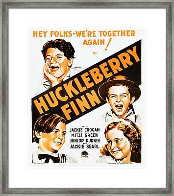 Huckleberry Finn, Top Junior Durkin Framed Print by Everett