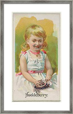 Huckleberry, From The Fruits Series N12 Framed Print by Issued by Allen & Ginter