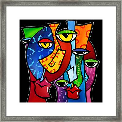 Huddle Up By Fidostudio Framed Print by Tom Fedro - Fidostudio