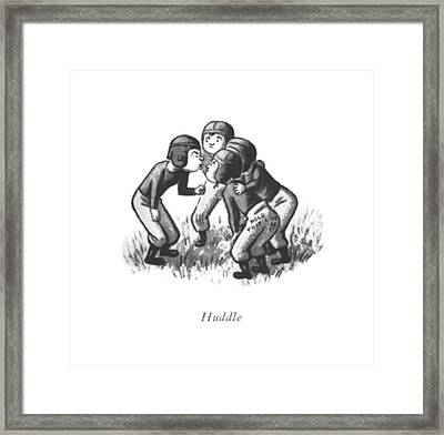 Huddle Framed Print