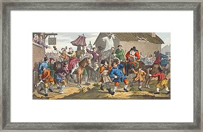 Hudibras Encounters The Skimmington Framed Print by William Hogarth