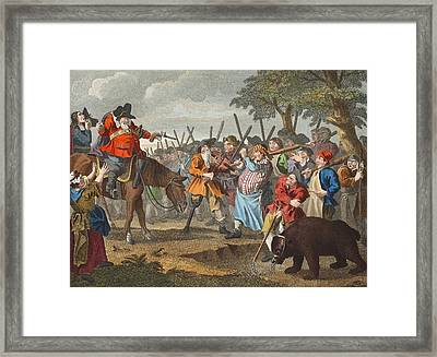 Hudibras First Adventure, From Hudibras Framed Print by William Hogarth