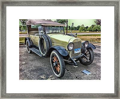 Framed Print featuring the photograph hudson 1921 phaeton car HDR by Paul Fearn