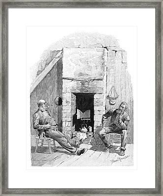 Hudson Bay Trappers, 1892 Framed Print