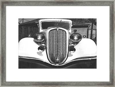 Hudson Canary Black And White Framed Print by John Madison
