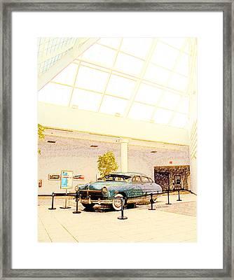 Hudson Car Under Skylight Framed Print by Design Turnpike