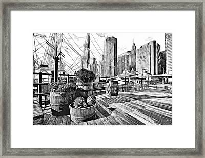 Hudson Harbor Framed Print by Yury Malkov