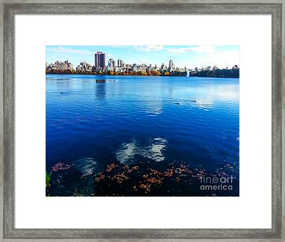 Hudson River Fall Landscape Framed Print