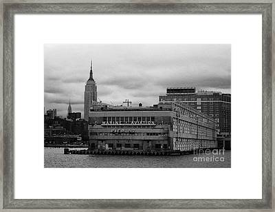 Hudson River Marine Aviation Pier 57 New York City Framed Print by Joe Fox