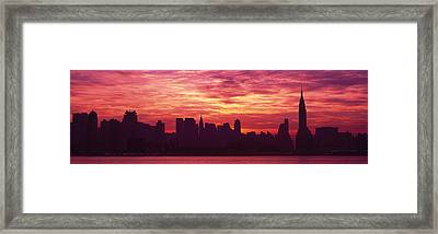 Hudson River New York, Nyc, New York Framed Print by Panoramic Images