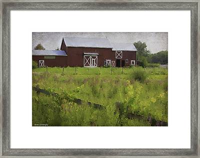 Hudson Valley Barn Framed Print